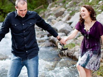 Melissa and Josh - Fernie Engagement Photographers