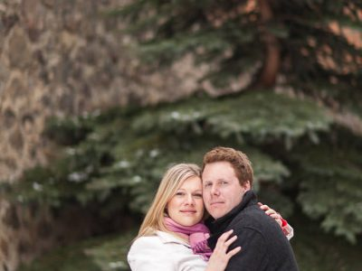 Esther and Graeme - Fernie Engagement Photography