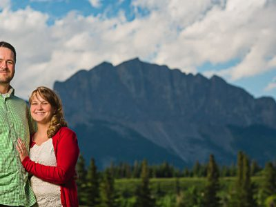 Kananaskis Engagement Photography - Victoria and Ken