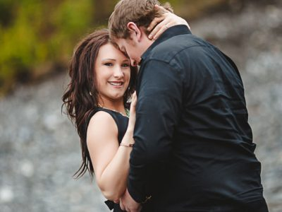 Siri and DJ - Canmore Engagement Session