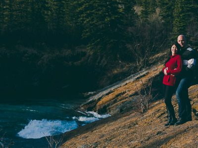 Steph and Chris - Kananaskis Engagement Session