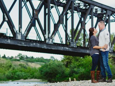 Julie and Chris - Calgary Engagement Session Photography