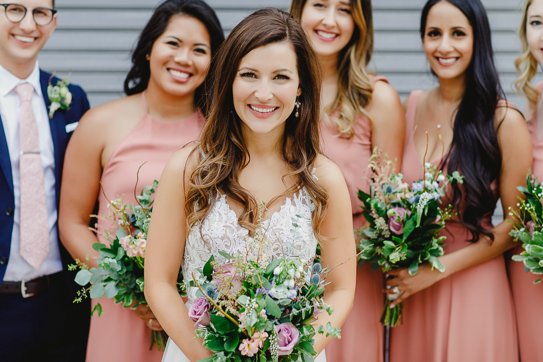 Bride with her bridesmaids at Panorama Mountain Resort