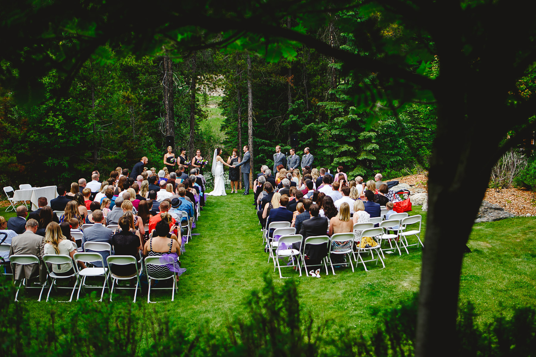 Wedding Ceremony near Toby Creek at Panorama Mountain Resort