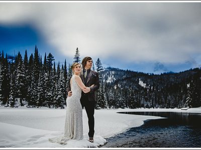 Winter Wedding at Island Lake Lodge - Megan and Jon