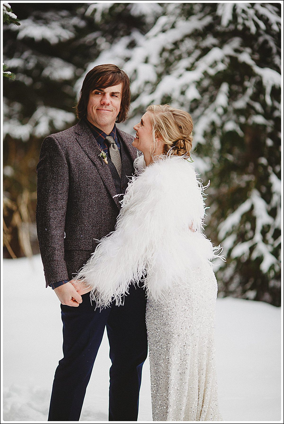 2017,6:8 Wedding Photography,December,Forest,Island Lake Lodge Wedding Photographers,Island Lake Winter,Jon,Megan,Megan and Jon,Snowy Trees,Trees,Winter Wedding,island lake lodge,