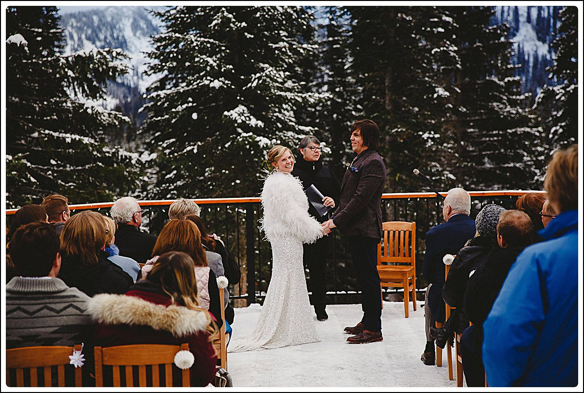 Ceremony on the deck of the Bear Lodge,