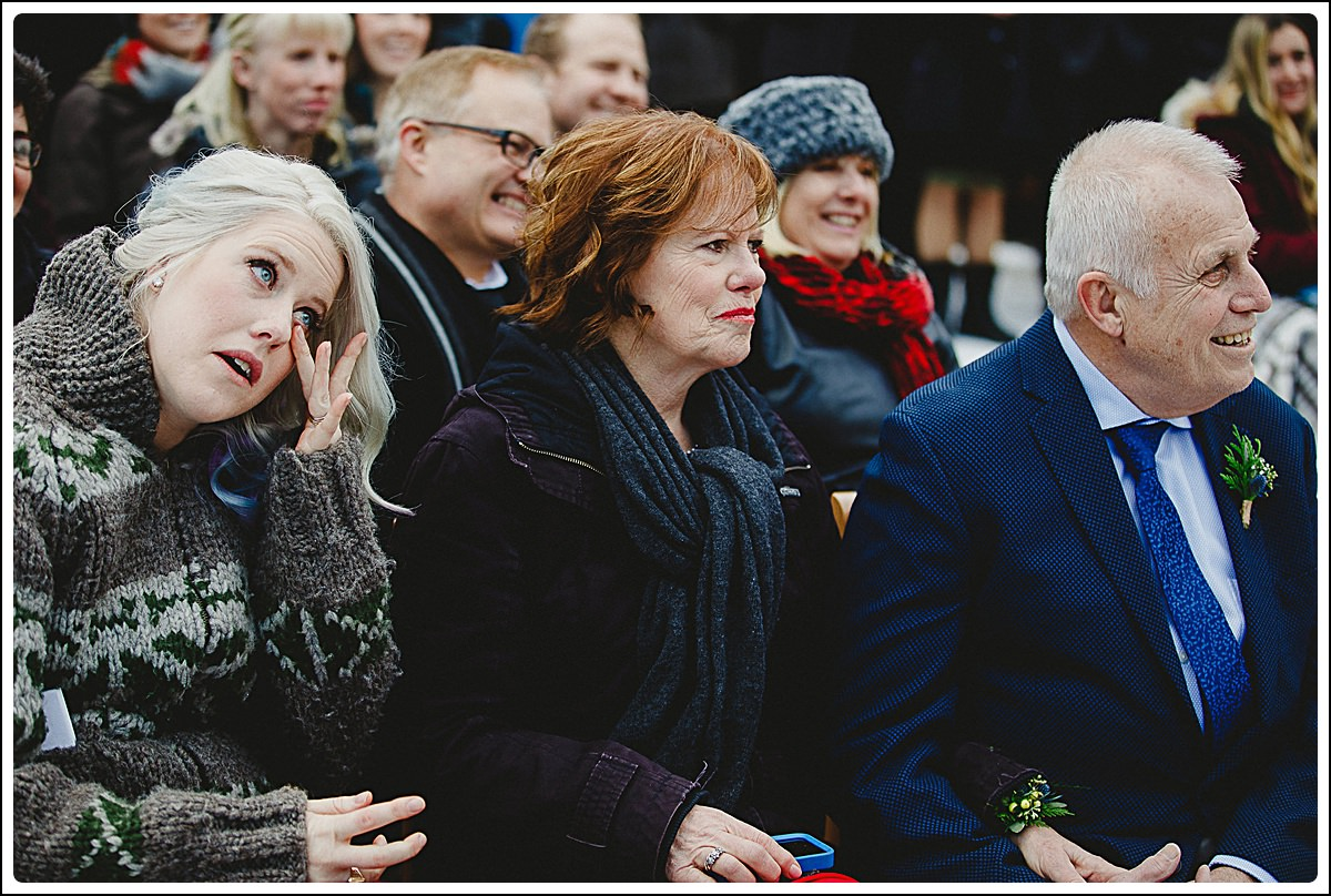 Candid reactions during the ceremony,