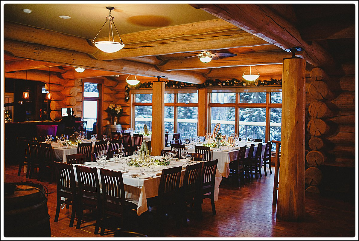 Reception space at Island Lake Lodge,