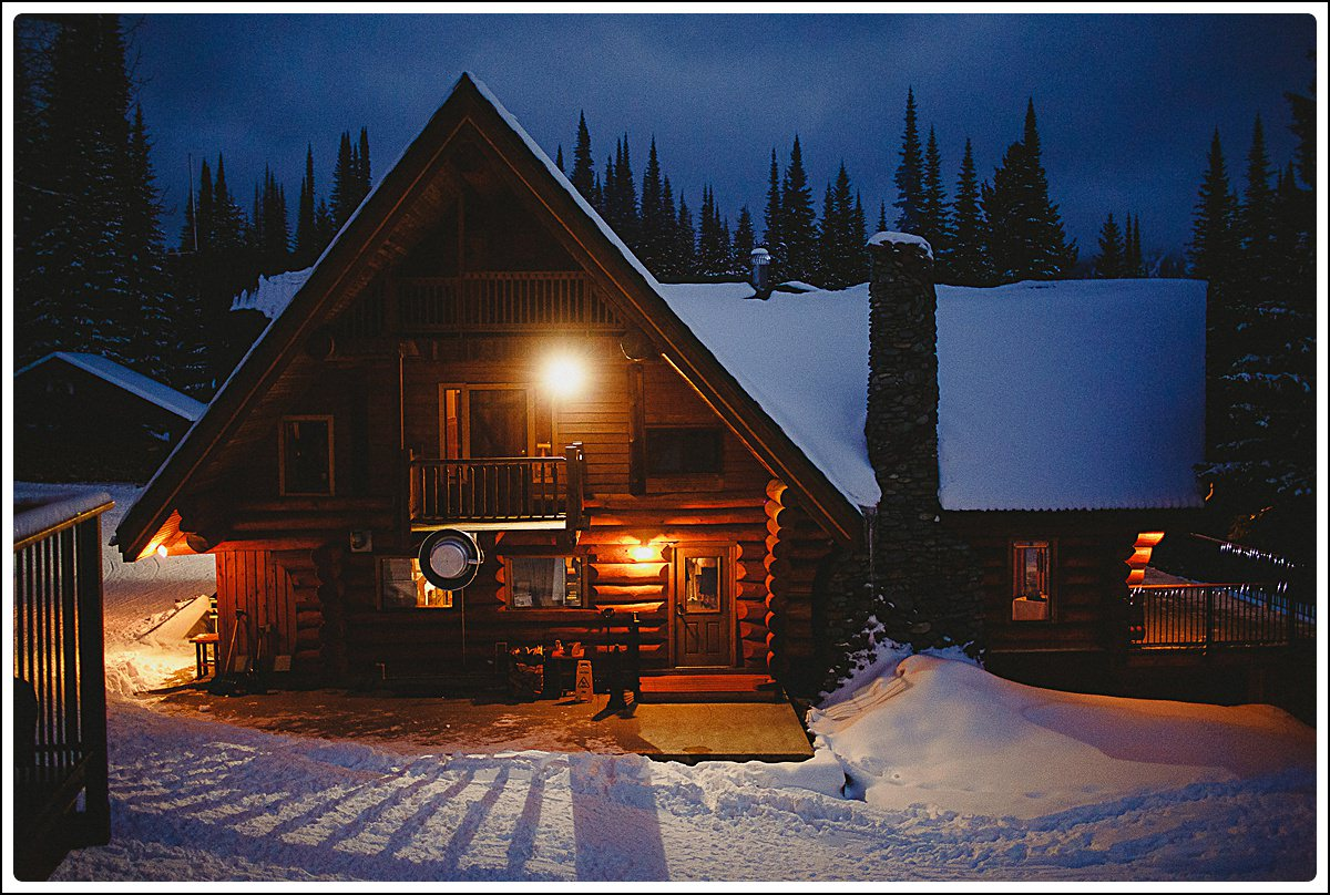 Winter scene at Island Lake Lodge - Bear Lodge,