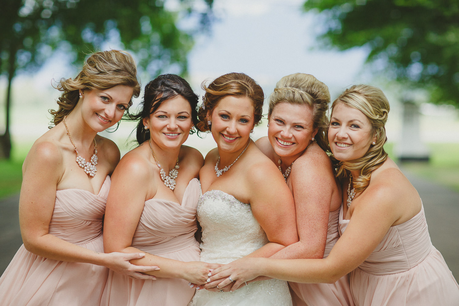 Bridesmaids at St Eugene
