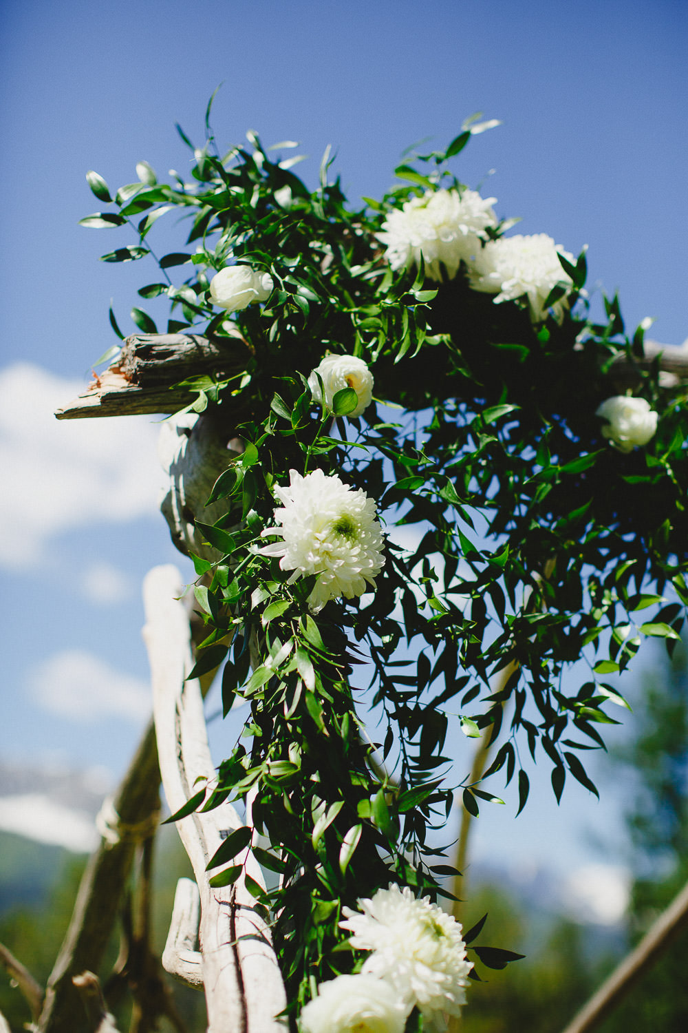 Wedding arch with floral design