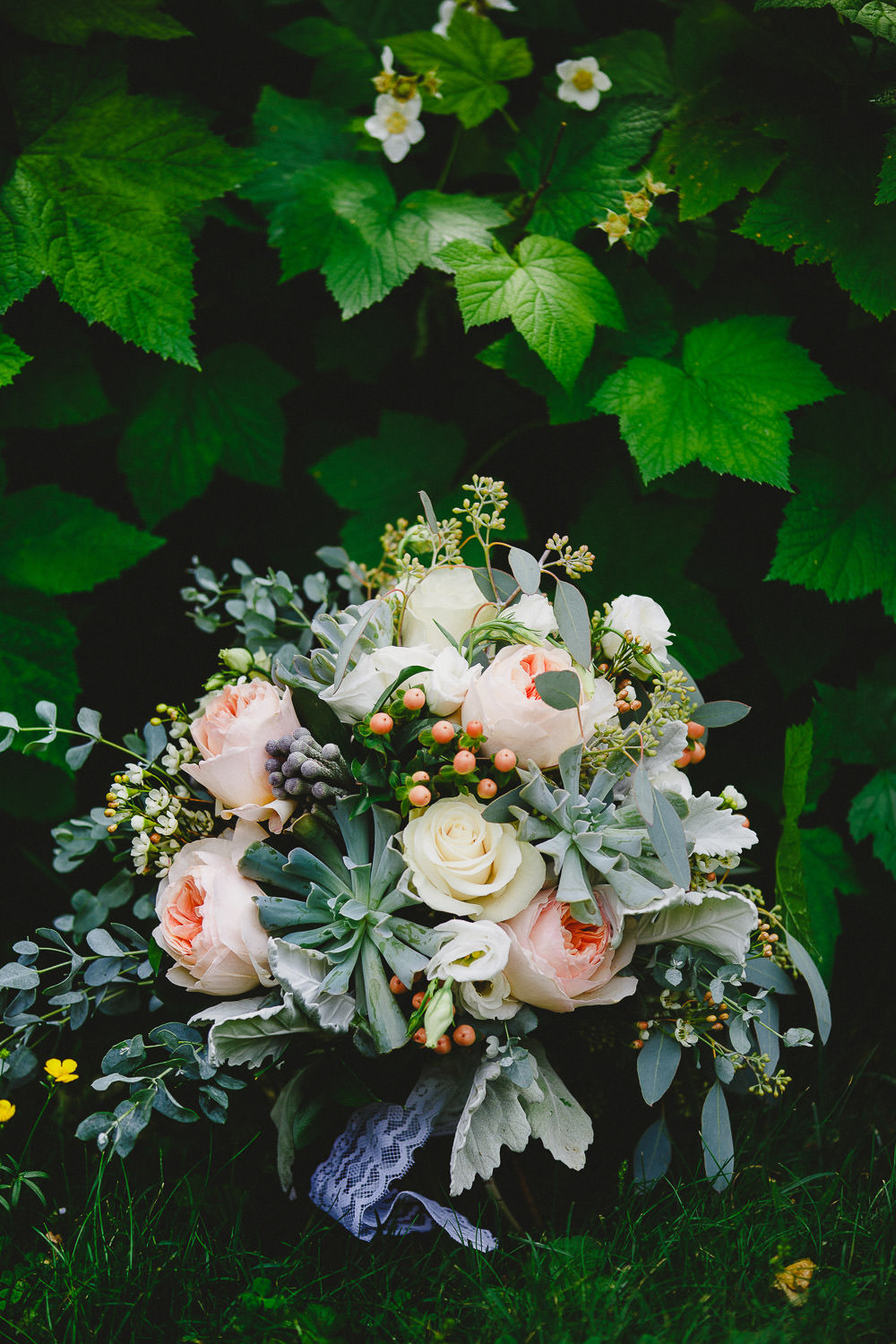 Bridal bouquet in nature